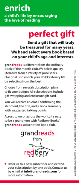 grandreads brochure back